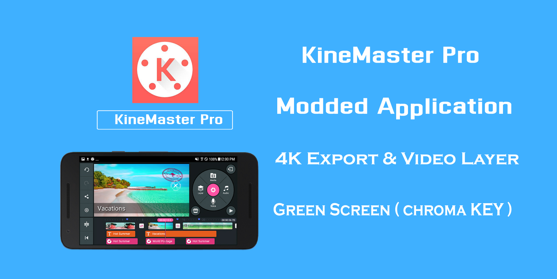 Modded KineMaster Pro Apk App Free Download - MAHI TECH INFO