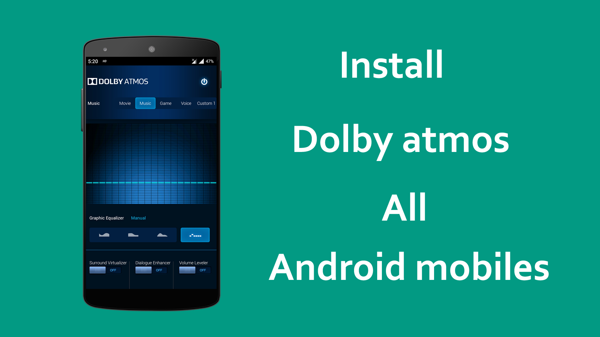How to Install Dolby Atmos any Android Mobile surrounding sound system for Dolby