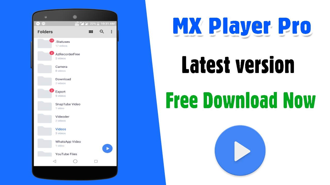 mx player pro download android