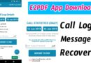 E2PDF Backup and Restore Call Logs,SMS, Contacts Apk App Download