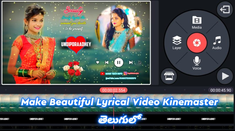 how to edit lyrical videos kinemaster in telugu