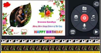 make happy birthday video with photos effect in telugu